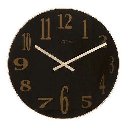 Zegar ścienny mirror glass czarny marki Nextime