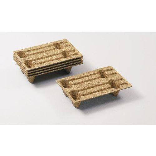 Paleta display z prasowanego drewna, dł. x szer. 600x400 mm, z 4 nóżkami, opak. marki Inka paletten