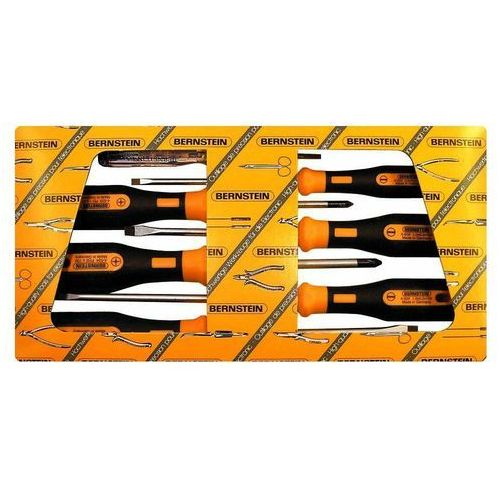 Zestaw wkrętaków do warsztatu 6 szt. Bernstein 4-530 płaski, krzyżakowy Pozidriv, EUROline-Power