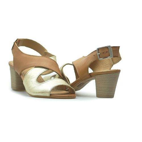 Sandały 0538 k.złoto/k.j. brown brązowe marki Simen