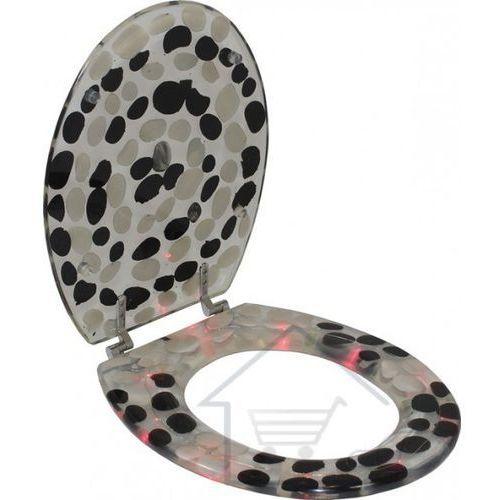 Deska sedesowa kamienie - podświetlana na różowo Zadzwoń 602142777 lub napisz info@kupuj.info Indywidualne wyceny kody rabatowe