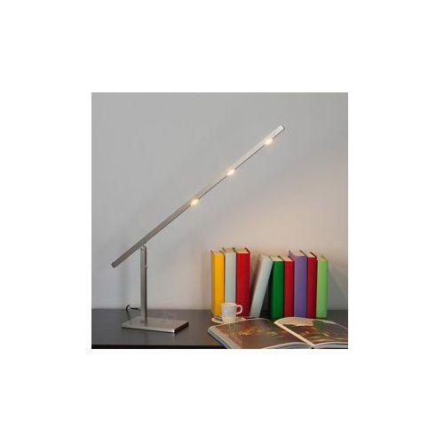 Lampenwelt Ruchoma lampa stołowa led beli ze ściemniaczem