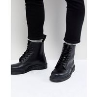 Dr Martens 1460 Mono 8-Eye Boots In Black - Black