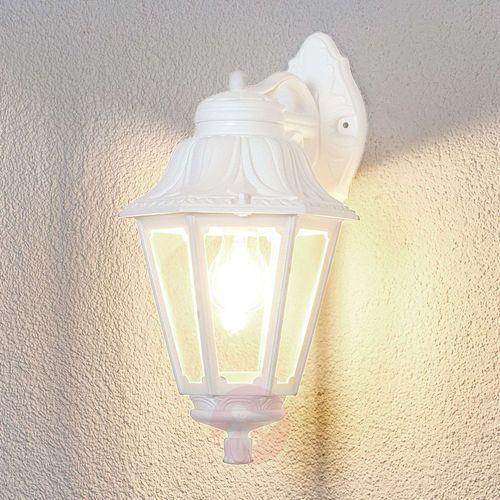 Kinkiet zewnętrzny LED Bisso Anna E27 biała tył (8031874076817)