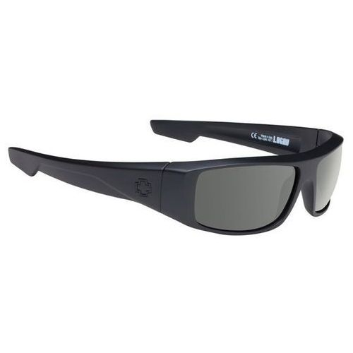 Okulary słoneczne logan polarized soft matte black - happy gray green polar marki Spy