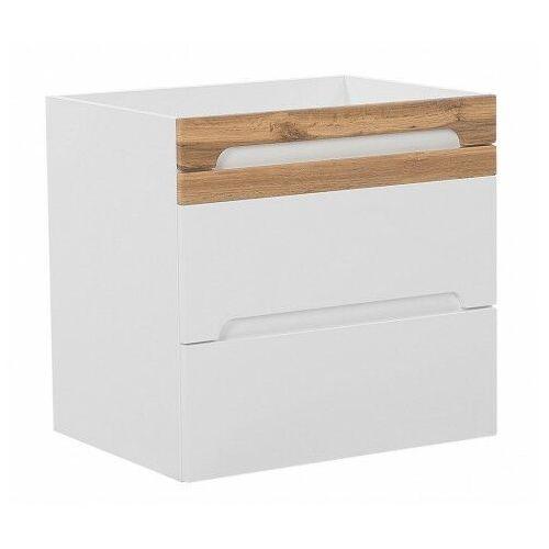 Wisząca szafka pod umywalkę z szufladami - Marbella 4X Biały połysk 60 cm