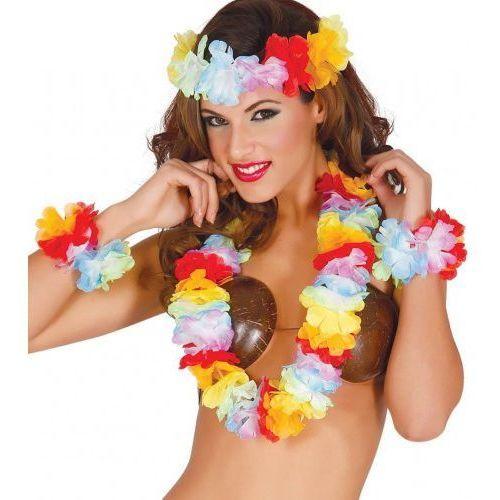 """Zestaw hawajski """"aloha party lux"""" wianek, naszyjnik, bransoletki marki Party world"""