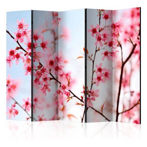 Parawan 5-częściowy - symbol japonii - kwiaty wiśni sakura ii [room dividers] marki Artgeist
