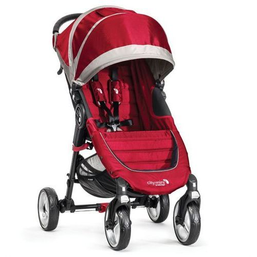 Wózek city mini single 4w crimson/gray + darmowy transport! marki Baby jogger