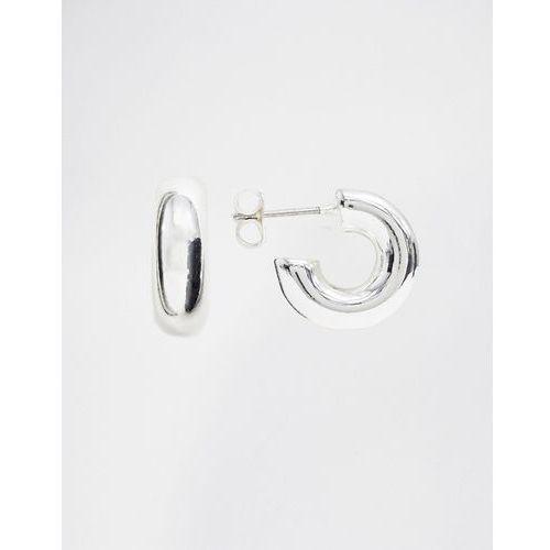Weekday small thick hoop earrings in silver - Silver, kolor szary