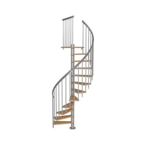 Dolle Schody spiralne calgary z dodatkowymi tralkami 140 cm srebrne (5907222465448)