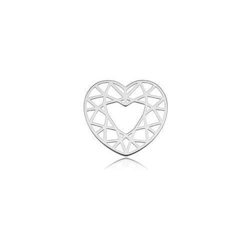 925.pl Zawieszka/łącznik ażurowy serce, srebro próby 925 bl 285