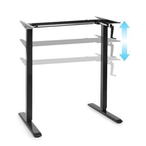 Oneconcept multidesk, biurko z regulacją wysokości, ręczne, 73-123 cm, czarne (4060656159442)
