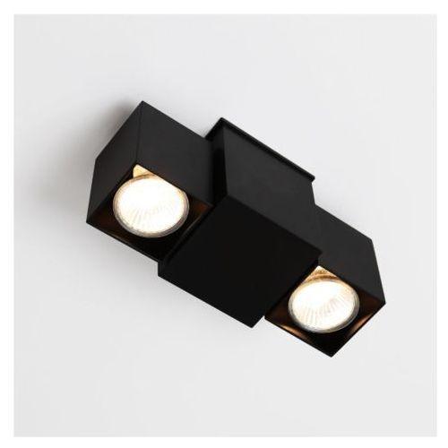 Shilo Lampa sufitowa bizen 2245/gu10/cz metalowa oprawa reflektorowa minimalistyczna czarna