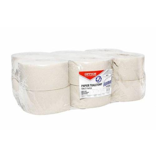 Papier toaletowy jednowarstwowy makulatura JUMBO szary - X07410 z kategorii Papier toaletowy