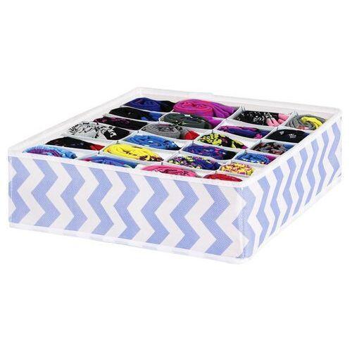 Springos Organizer do szuflady na bieliznę z 24 przegródkami niebieskie zygzaki