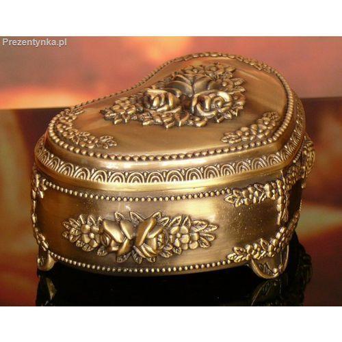 Szkatułka serce stare złoto, towar z kategorii: Na parapetówkę dla nich