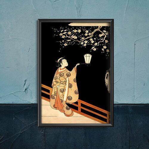 Plakat vintage do salonu plakat vintage do salonu kobieta ubrana w szarfę marki Vintageposteria.pl
