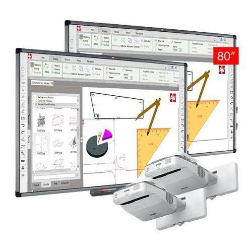 Avtek Zestaw: 2 x tt-board 80 pro + projektor ultrakrótkoogniksowy epson eb670 - aktywna tablica