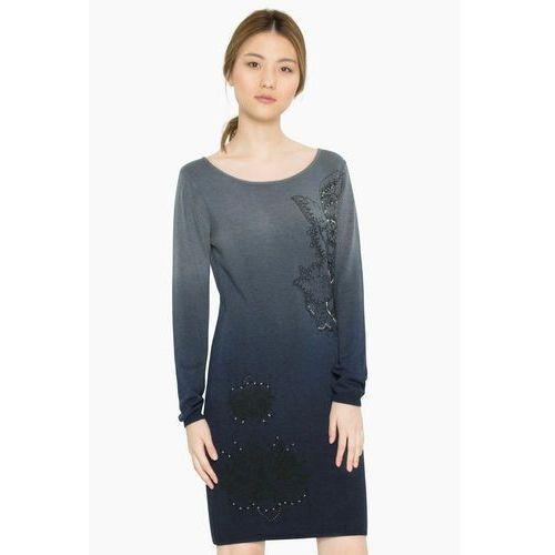 Desigual sukienka damska Málaga S ciemnoniebieski, kolor niebieski