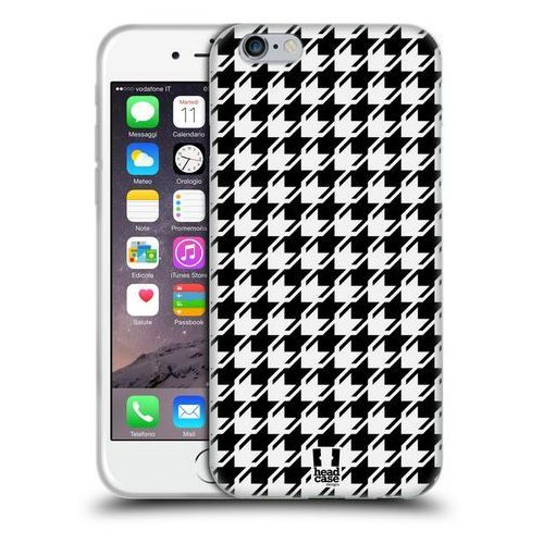 Etui silikonowe na telefon - Houndstooth Patterns BLACK, kolor czarny