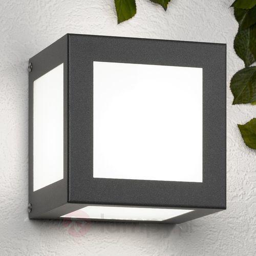 Cmd creativ metalldesign gmbh Sześcienna lampa ścienna zewnętrzna cubo antracyt (4260045640111)
