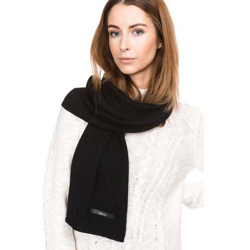 Calvin klein sylvia scarf czarny uni (8719114022052)