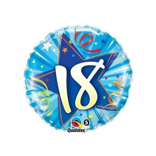 Go Balon foliowy na 18-tke niebieski - 47 cm - 1 szt.