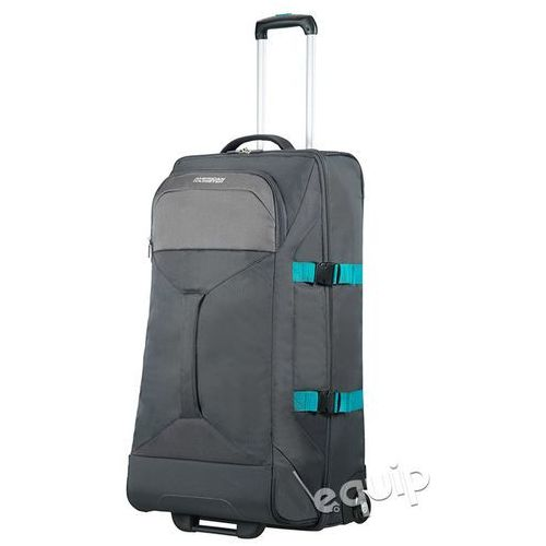 Torba na kółkach duża American Tourister Road Quest - grey turquoise (5414847784682)