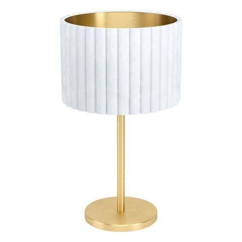 39766 TAMARESCO oprawa stołowa stal mosiądz szczotkowany biały, złoty EGLO