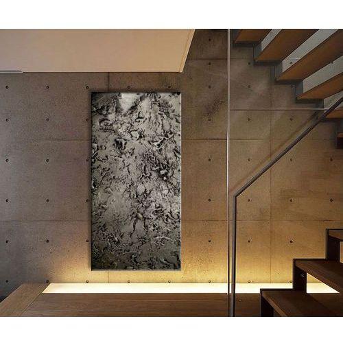 """Obrazy ręcznie malowane do dużych przestrzeni - """"stare srebro"""""""