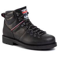 Trzewiki - suede material mix hiking boot fm0fm02589 black blk, Tommy hilfiger, 40-48