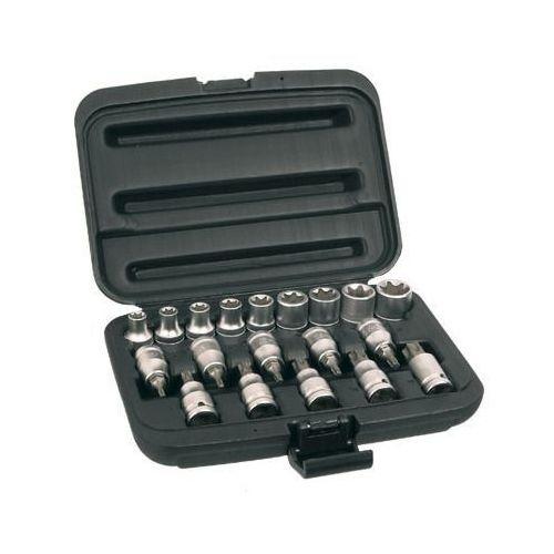 Zestaw końcówek wkrętakowych i nasadek TOPEX 39D379 1/2 cala (19 elementów), T 39D379