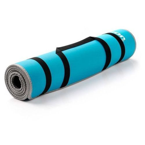 Mata do ćwiczeń fitness EVA METEOR - niebieska 180x60x0,6cm - Niebieski