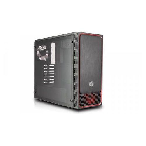 Cooler master masterbox e500l czarno-czerwona z oknem mcb-e500l-ka5n-s01