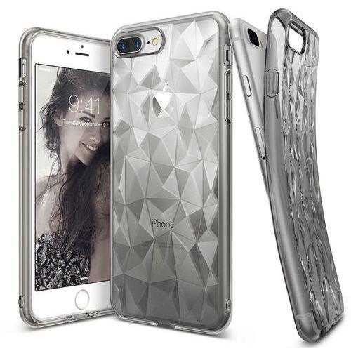 Rearth Etui ringke air prism apple iphone 7 plus, smoke black (przydymiony) + folia (8809525011643)