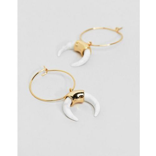 Orelia gold hoop cresent earrings - gold