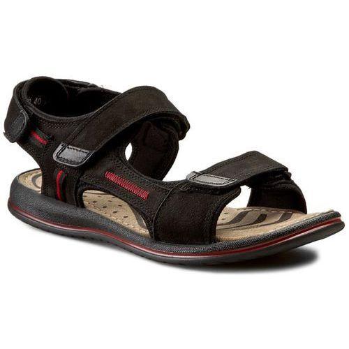 Sandały GREGOR - 01630-ME-NT10 Czarny/Czerwony, w 6 rozmiarach