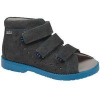 Sandałki profilaktyczne ortopedyczne buty 1042 szary szn - szary   grafitowy   niebieski   multikolor marki Dawid