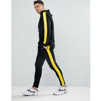 Liquor N Poker Joggers With Side Stripe Yellow - Green, kolor zielony