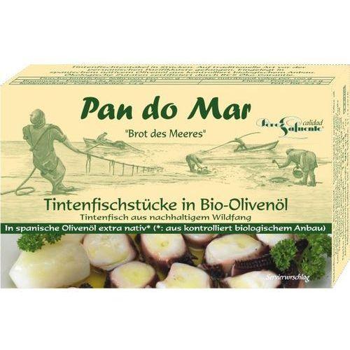 Macki kałamarnicy w oliwie z oliwek 480g bio marki Pan do mar