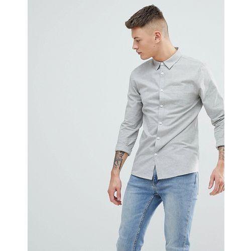 Another Influence Plain Chambrey Long Sleeve Shirt - Grey, w 4 rozmiarach