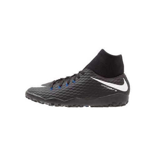 Nike Performance HYPERVENOMX PHELON 3 DF TF Korki Turfy black/white/dark grey