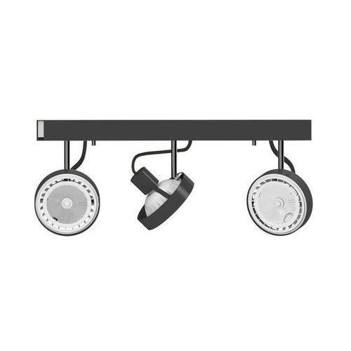 Listwa Nowodvorski Cross 9596 lampa oprawa sufitowa 3x75W GU10 ES111 czarny