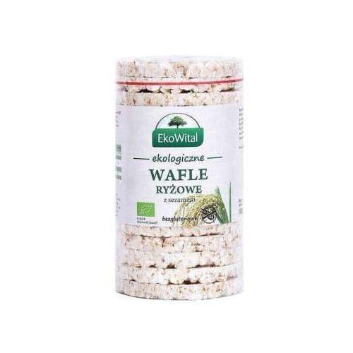 Wafle ryżowe z sezamem bezglutenowe bio marki Eko wital