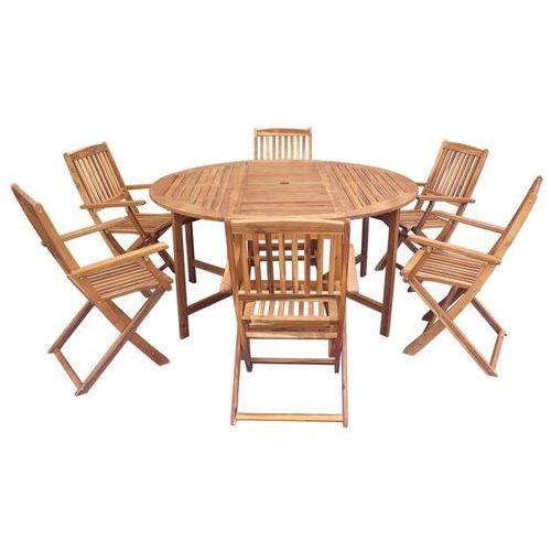 Vidaxl zestaw składanych mebli ogrodowych, 7 części, drewno akacjowe (8718475501398)