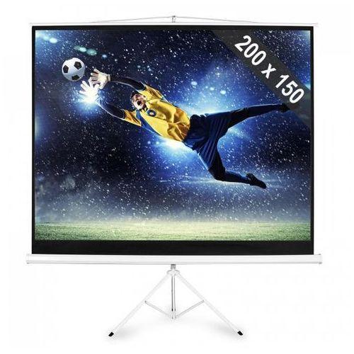 FrontStage Ekran na statywie rozwijany 200x150cm kino domowe HDTV 254cm 4:3