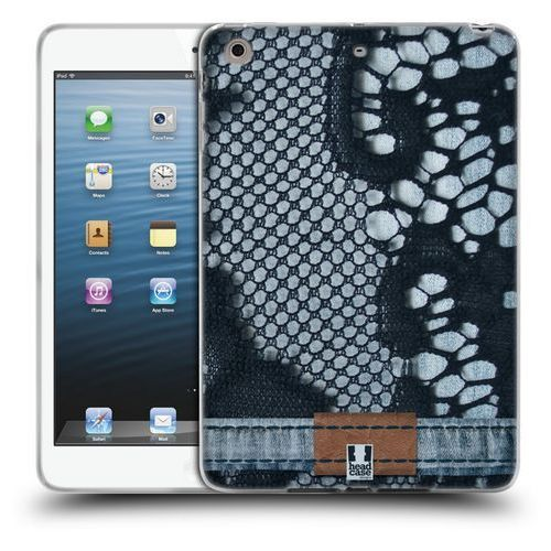 Etui silikonowe na tablet - Jeans and Laces BLUE LACE OVER LIGHT DENIM
