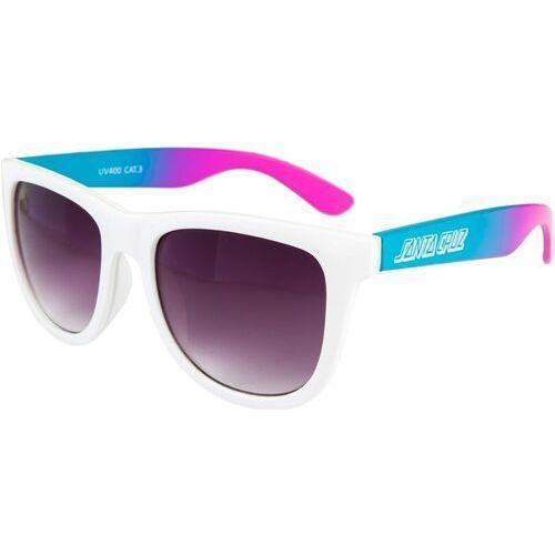 Santa cruz Okulary przeciwsłone - jammer fade sunglasses white fade (white fade)