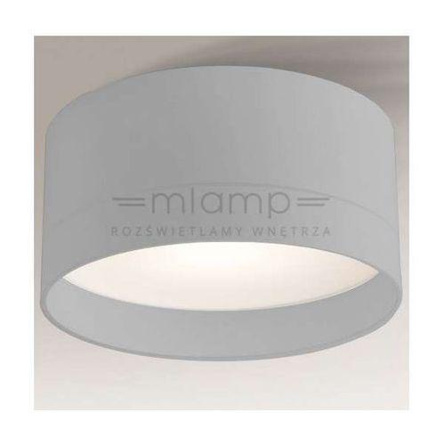 Natynkowa lampa sufitowa tosa 1182/led/sz  okrągła oprawa plafon led 15w szary marki Shilo
